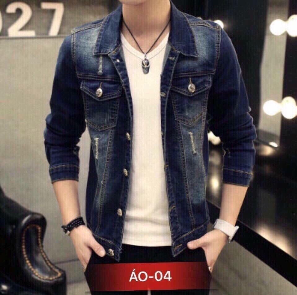 Hình ảnh Áo Khoác Jeans Nam Phong Cách M004
