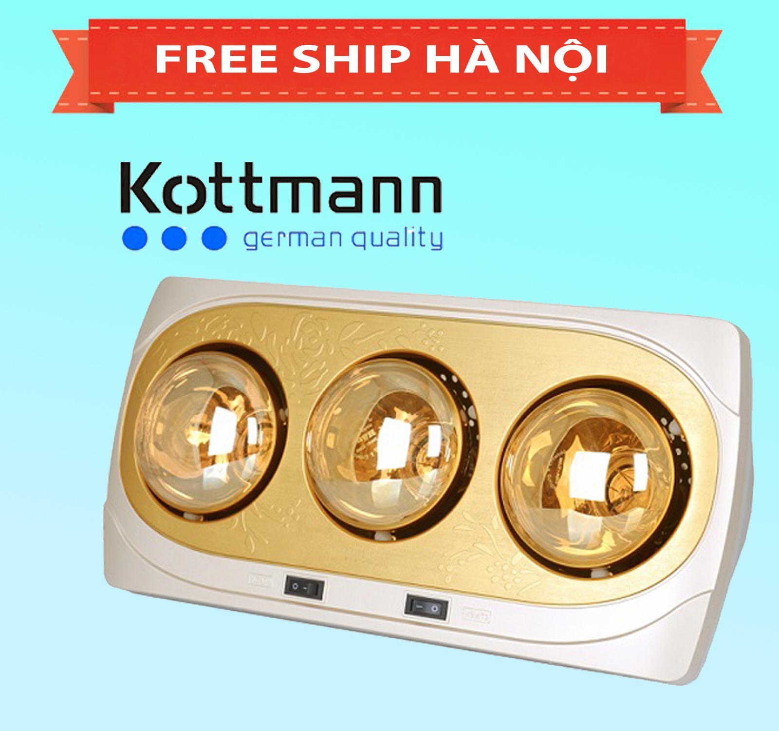 Đèn sưởi Kottmann 3 bóng vàng K3B-H