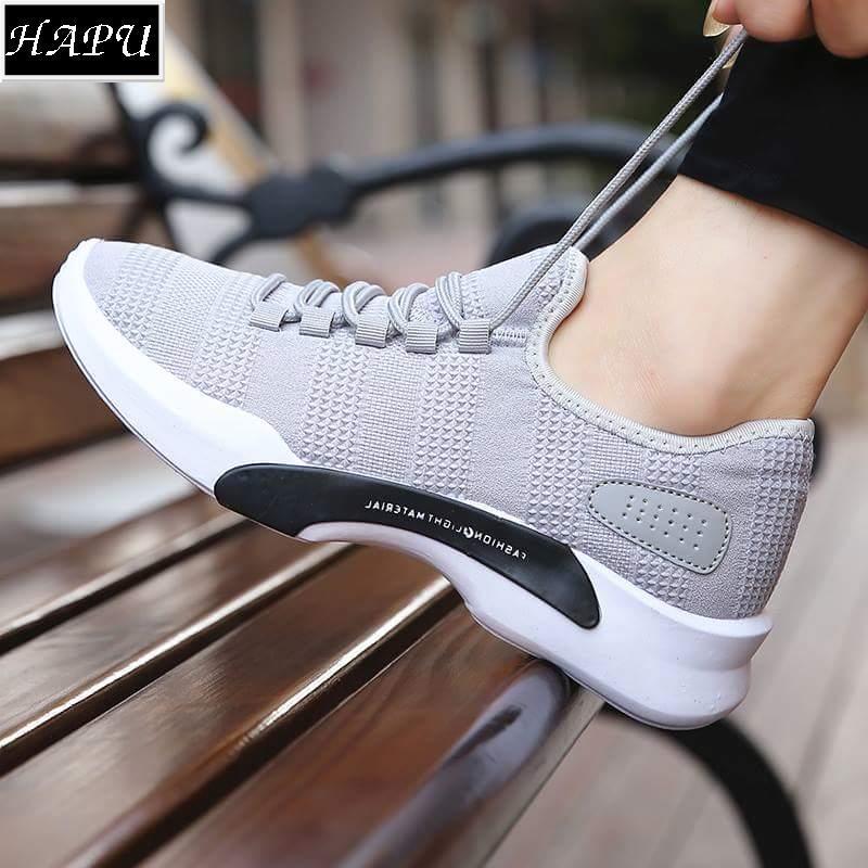 Hình ảnh Giày sneaker nam kiểu Hàn Quốc, năng động và mạnh mẽ HAPU - DBF1 (đen, xám)