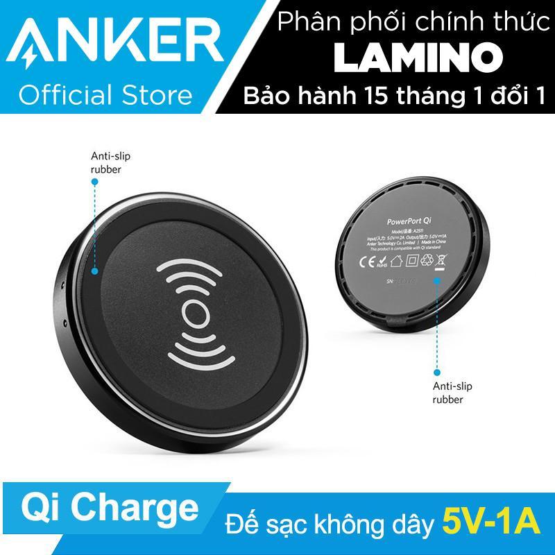 Mã Khuyến Mại Sạc Khong Day Anker Powerport Wireless Qi 5W Đen Hang Phan Phối Chinh Thức