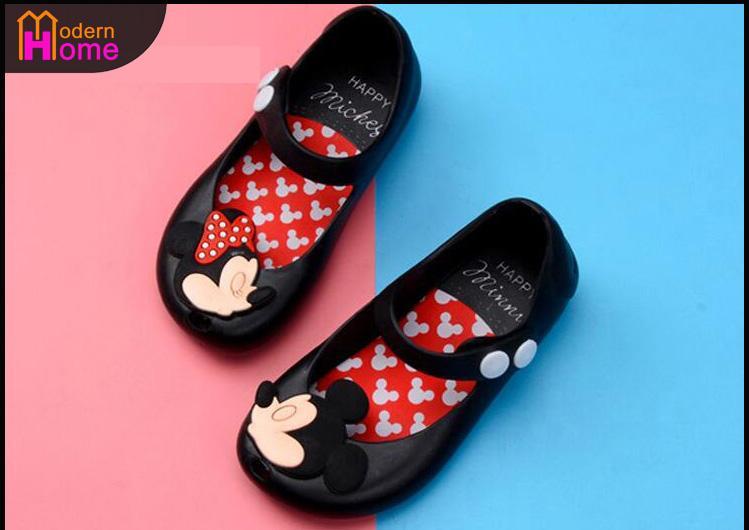 Hình ảnh Giày nhựa jelly giày đi mưa búp bê bé gái Mickey