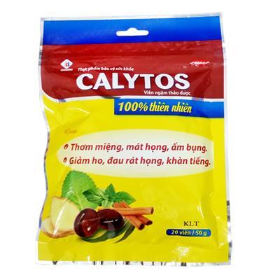 Hình ảnh Kẹo Ngậm Thảo Dược Calytos Làm Dịu Cơn Ho, Khàn Tiếng Domesco (20 Viên / Bịch)