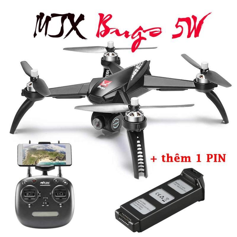 Flycam MJX Bugs 5W (Bản 2 Pin) - Động cơ không chổi than, GPS, Camera 8.0MP, Sóng 5Ghz