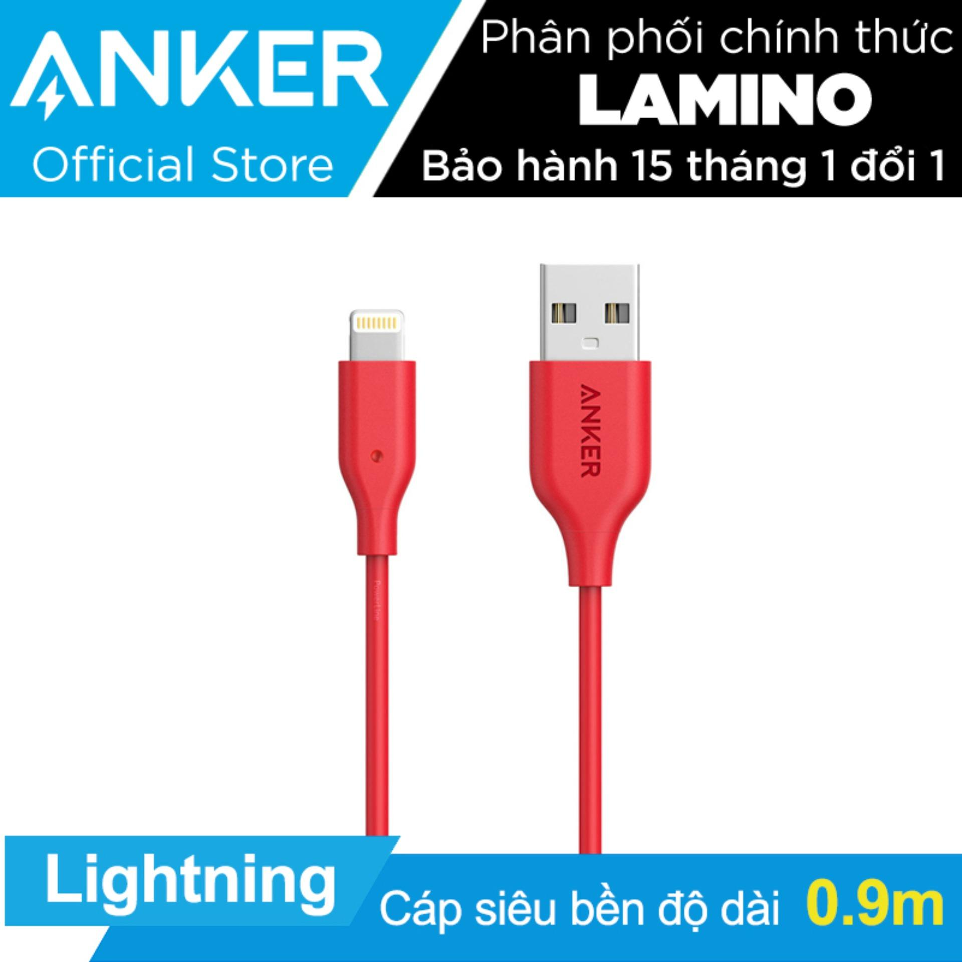 Giá Bán Cap Sạc Sieu Bền Anker Powerline Lightning 9M Cho Iphone Ipad Ipod Đỏ Hang Phan Phối Chinh Thức Anker Nguyên