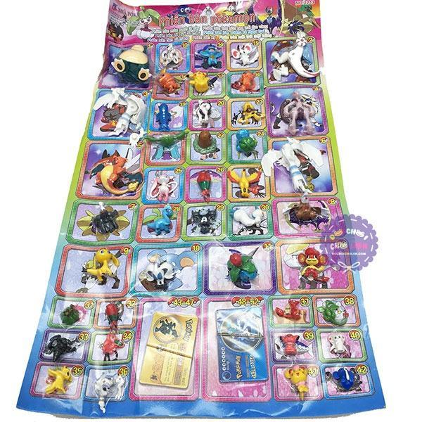 Hình ảnh Vỉ đồ chơi mô hình Pokemon bằng nhựa 42 con nhiều size