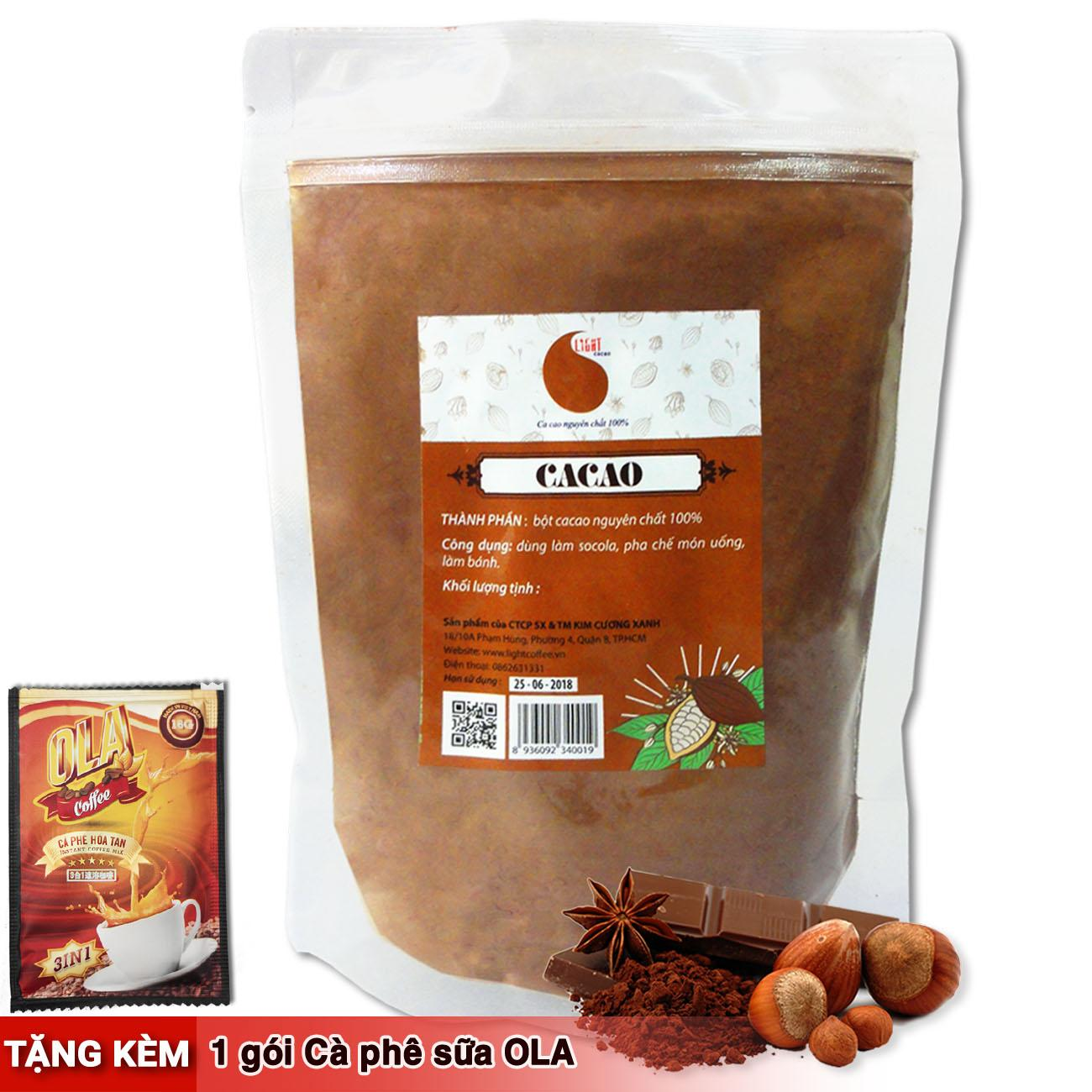 Cacao nguyên chất 100% - Light Cacao - 200gr