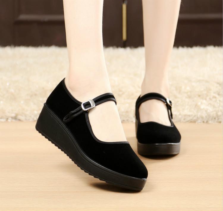 Women s Non-slip Black Platform Shoe 1066ed9dd11a