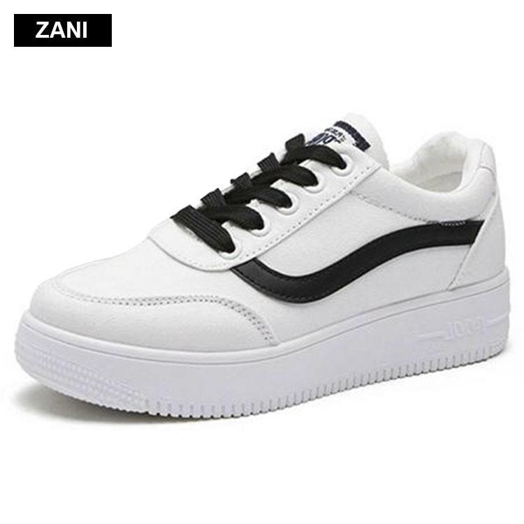 Giay Sneaker Thời Trang Nữ Zani Zn8001W Trắng Hà Nội