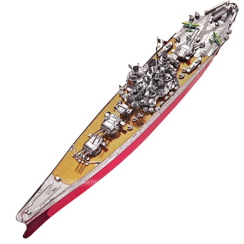 Hình ảnh Mô hình lắp ghép kim loại 3D Piececool Yamato (Đỏ Bạc)