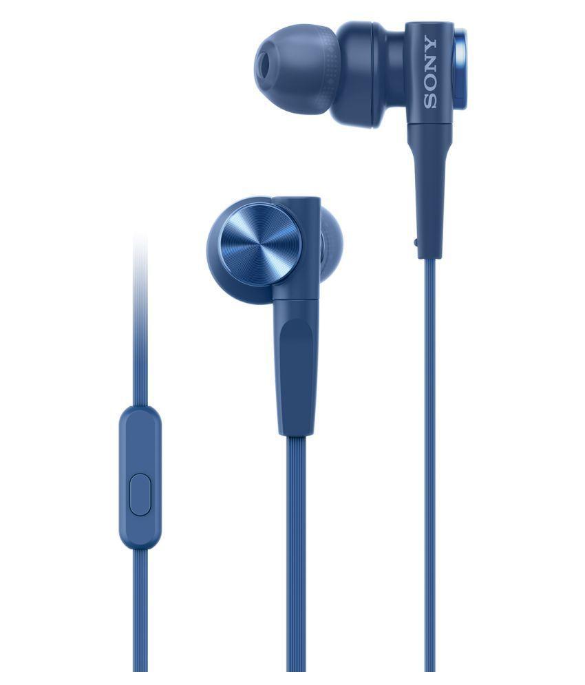 Tai nghe Sony MDR-XB55AP ( Xanh dương)