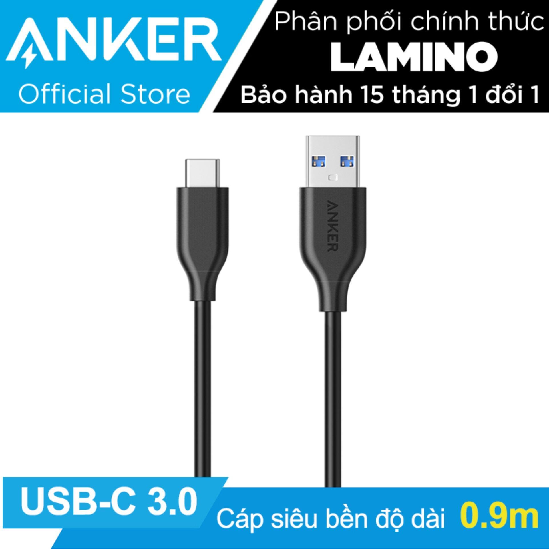 Bán Cap Sieu Bền Type C Anker Powerline Usb C To Usb 3 Dai 9M Đen Hang Phan Phối Chinh Thức Trực Tuyến Trong Hồ Chí Minh
