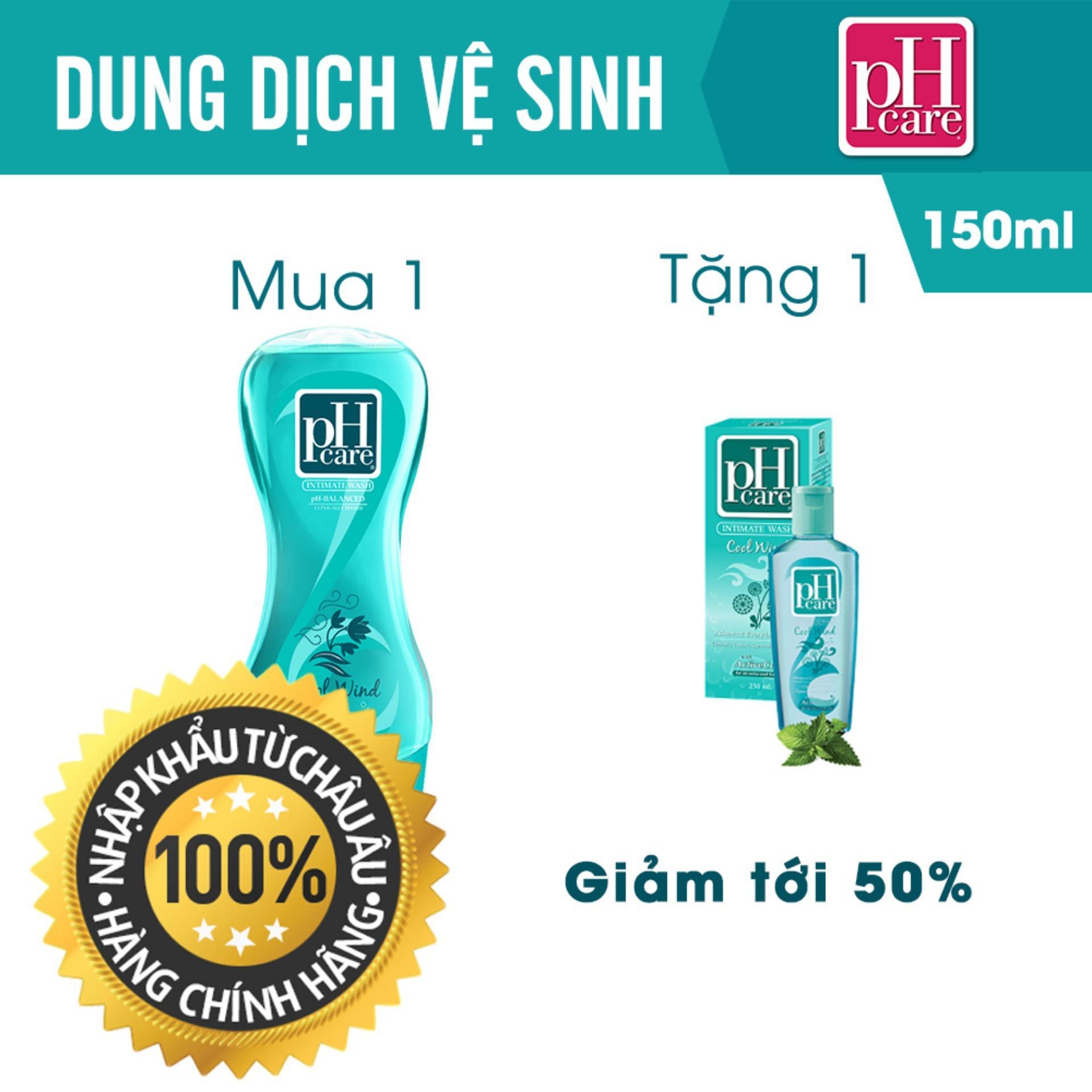 Hình ảnh Dung Dịch Vệ Sinh Phụ Nữ PH Care Intimate Wash Cool Wind 150ml TẶNG 1 Chai 50ml [ UIP - DDVS PH 11 ]