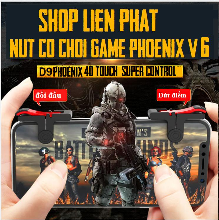 Hình ảnh Nút bấm chơi game cơ D9 Phoenix, Pubg, ROS phiên bản mới nhất V6 nâng cấp lõi cảm ứng!