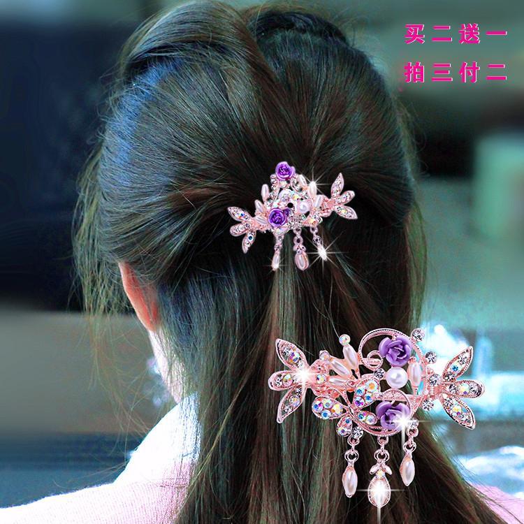 Han Ban Membungkus Surat Rambut Wanita Berpakaian Jepit Rambut Yang Bulang Horizontal Kupu