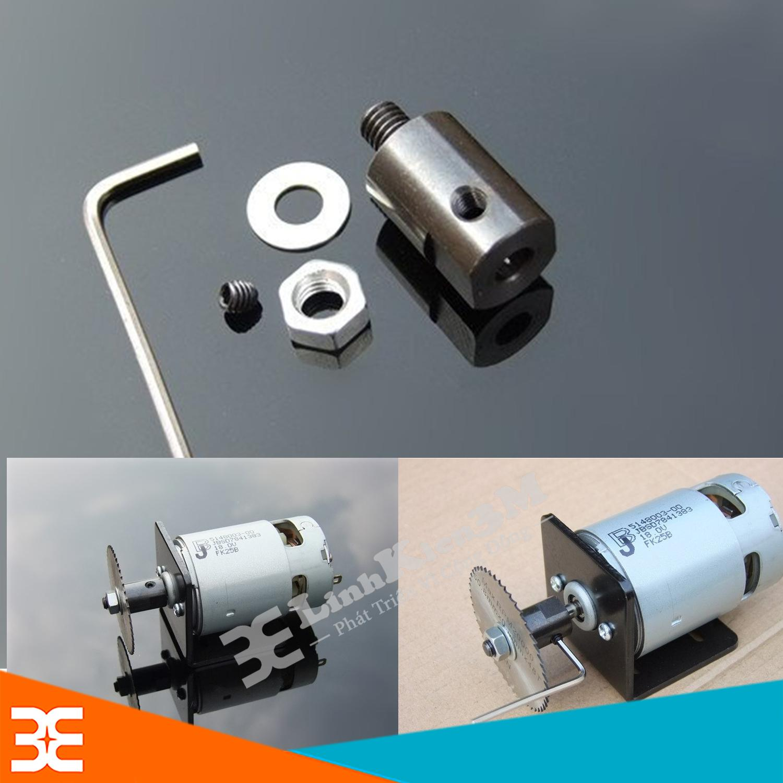 Hình ảnh Trục Kẹp Lưỡi Cắt M6-5mm làm máy cưa, cắt mini từ Motor trục 5mm ( 775 )