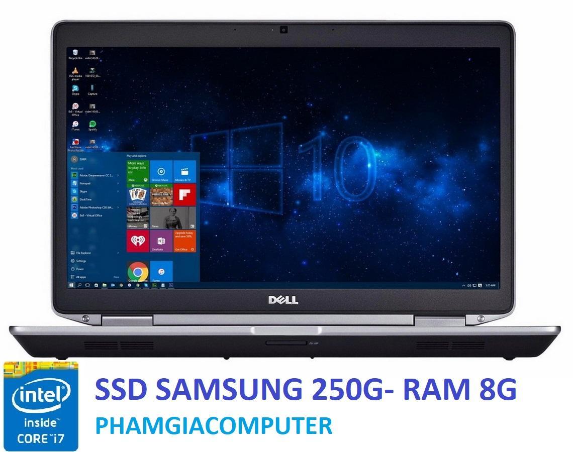 Hình ảnh Laptop Dell Latitude E6430 Core i7 3520M Ram 8G SSD 250G VGA NVIDIA NVS5200M GTA5 Đồ họa - Hàng nhập khẩu-Tặng cặp Dell + chuột wireless