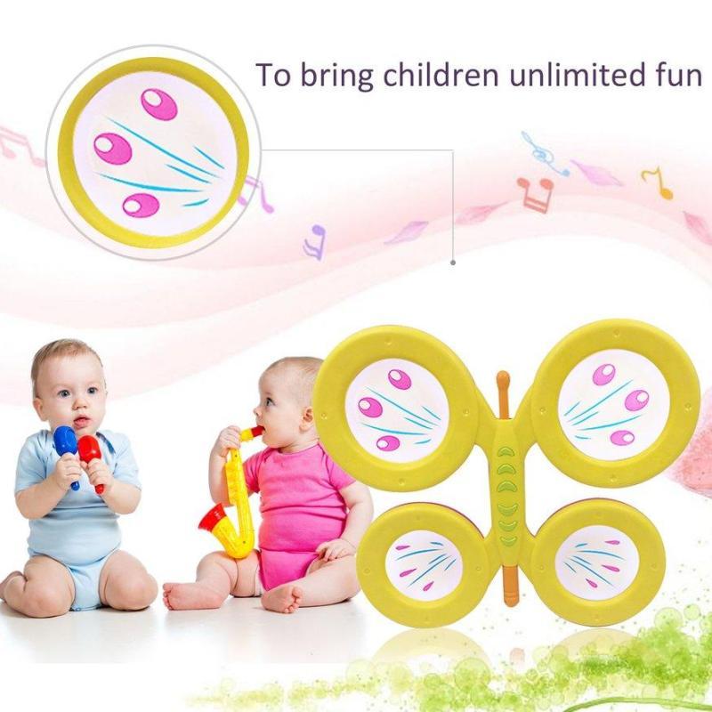 UINN Orffworld Butterfly Drum Plastic Cartoon Drum Kids Musical Instrument Toy