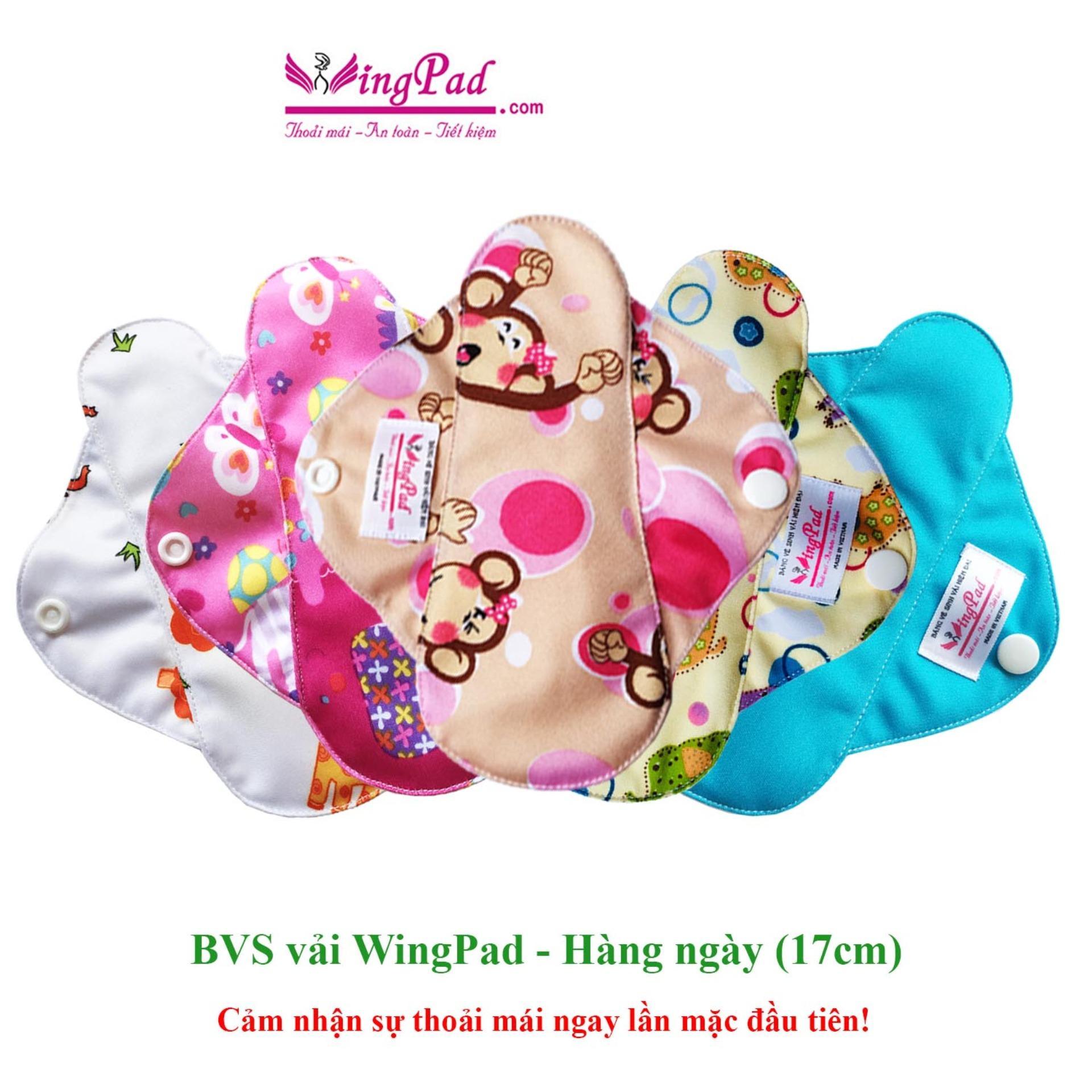 Hình ảnh Combo 5 miếng băng vệ sinh vải WingPad hàng ngày Daily 17cm (màu ngẫu nhiên)