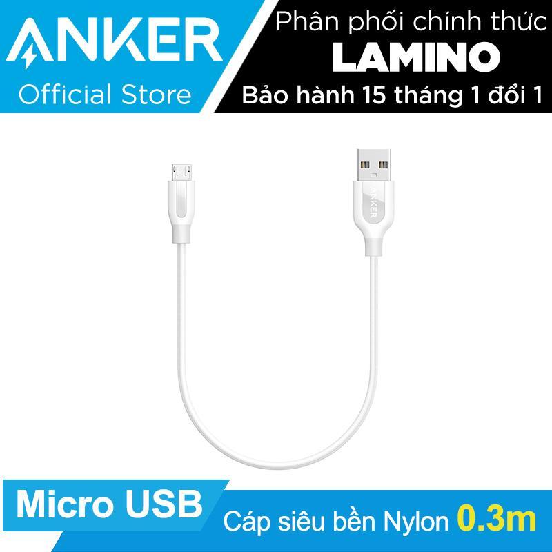 Chiết Khấu Cáp Sieu Bèn Nylon Anker Powerline Micro Usb Dai 3M Trắng Hang Phan Phối Chinh Thức Có Thương Hiệu