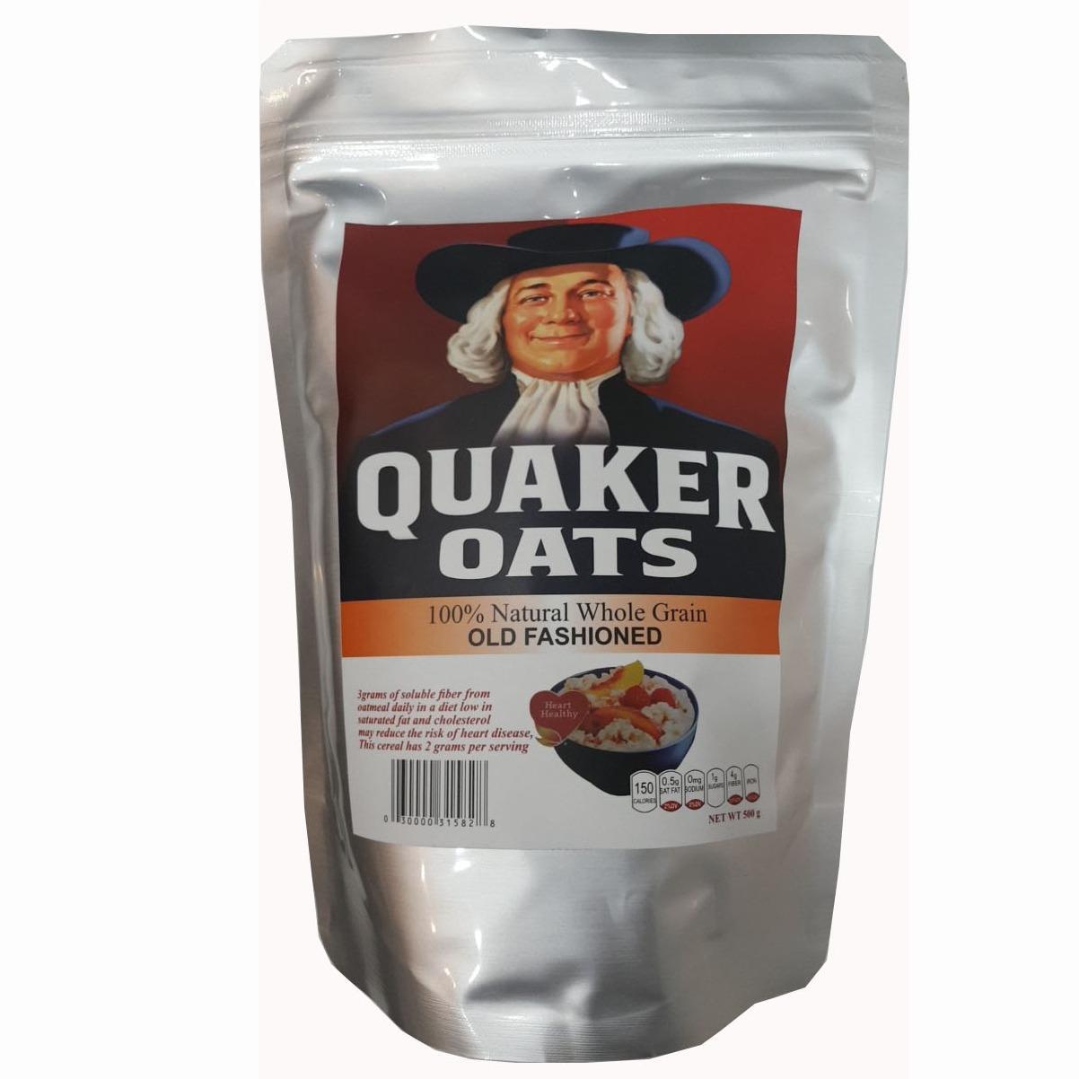 Yến mạch giảm cân Quaker Oats dạng gói cán dẹt (500g)