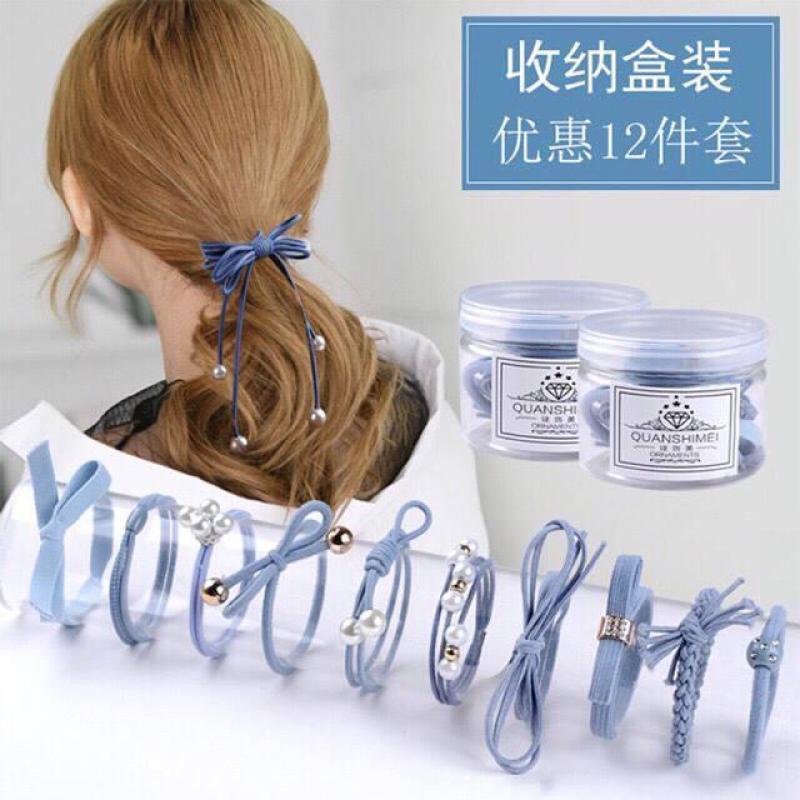 Hộp 12 dây buộc tóc cực xinh nhập khẩu