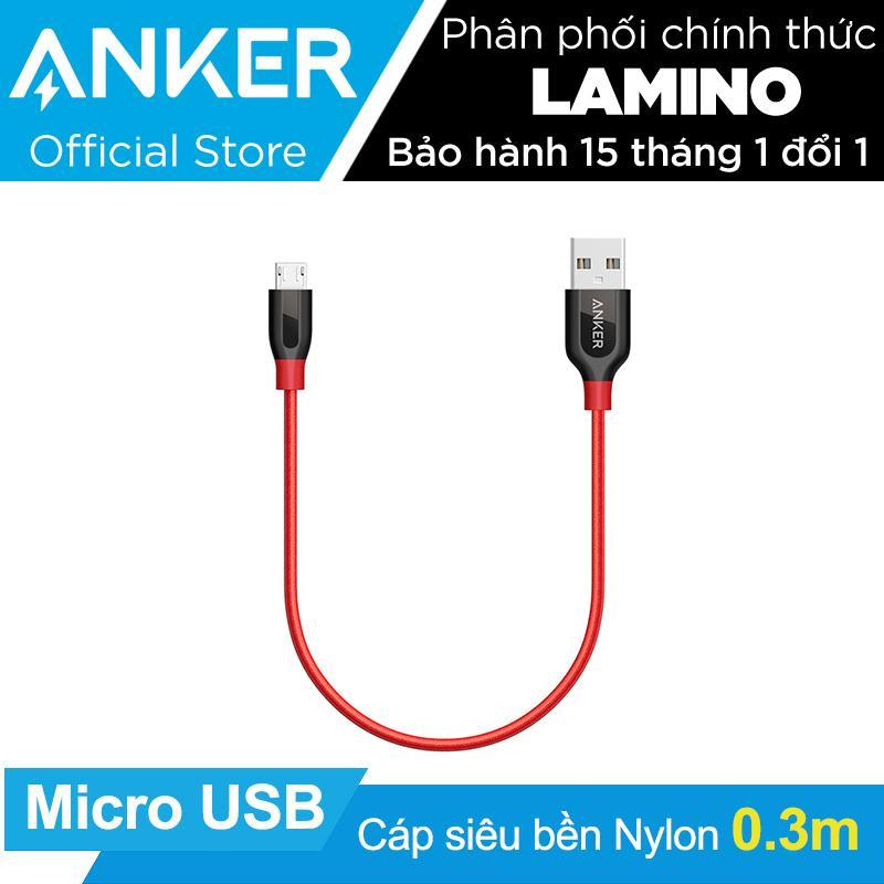 Cap Sieu Bền Nylon Anker Powerline Micro Usb Dai 3M Đỏ Hang Phan Phối Chinh Thức Nguyên