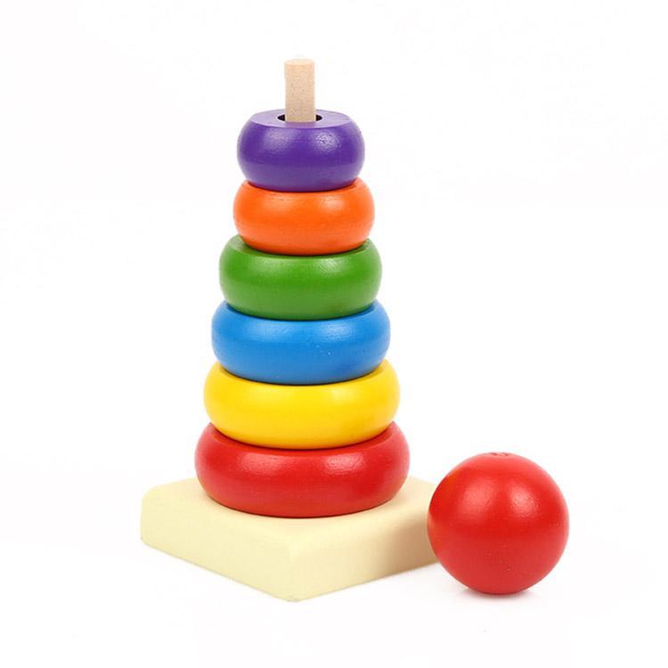 Hình ảnh Đồ chơi tháp xếp chồng bằng gỗ