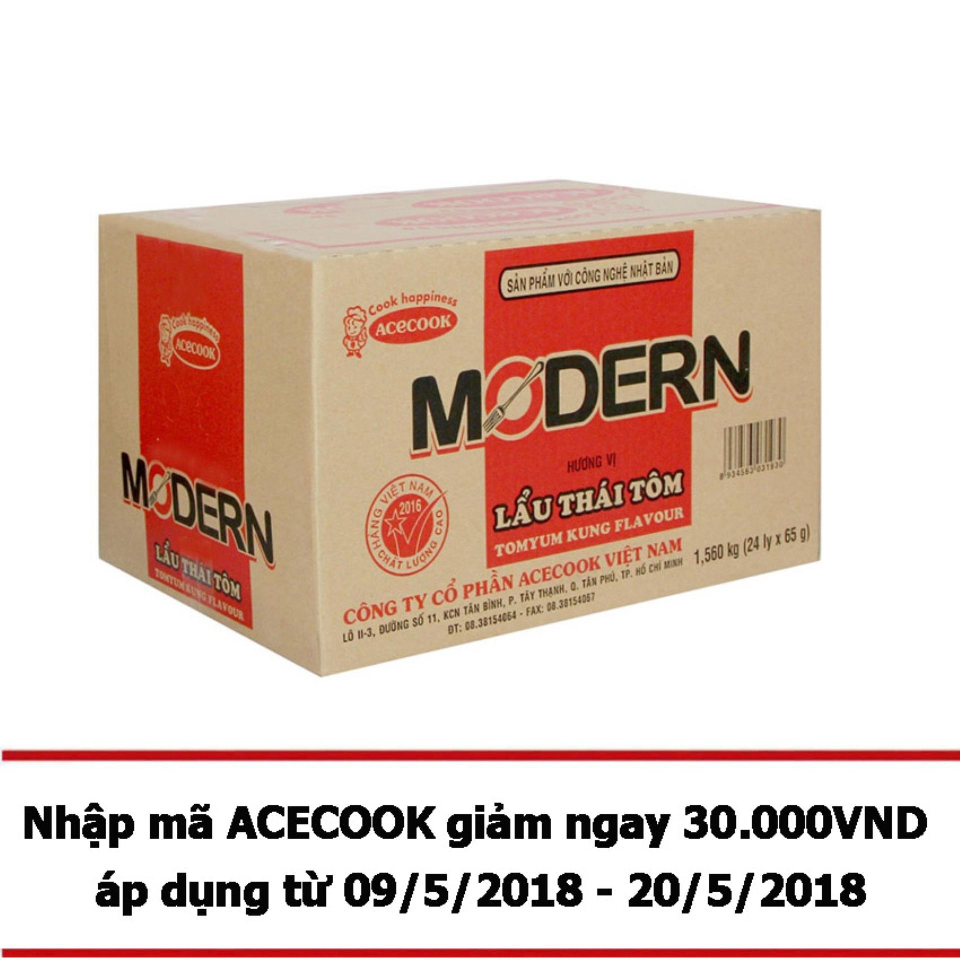 Ôn Tập Thung 24 Ly Mi Modern Vị Lẩu Thai Tom