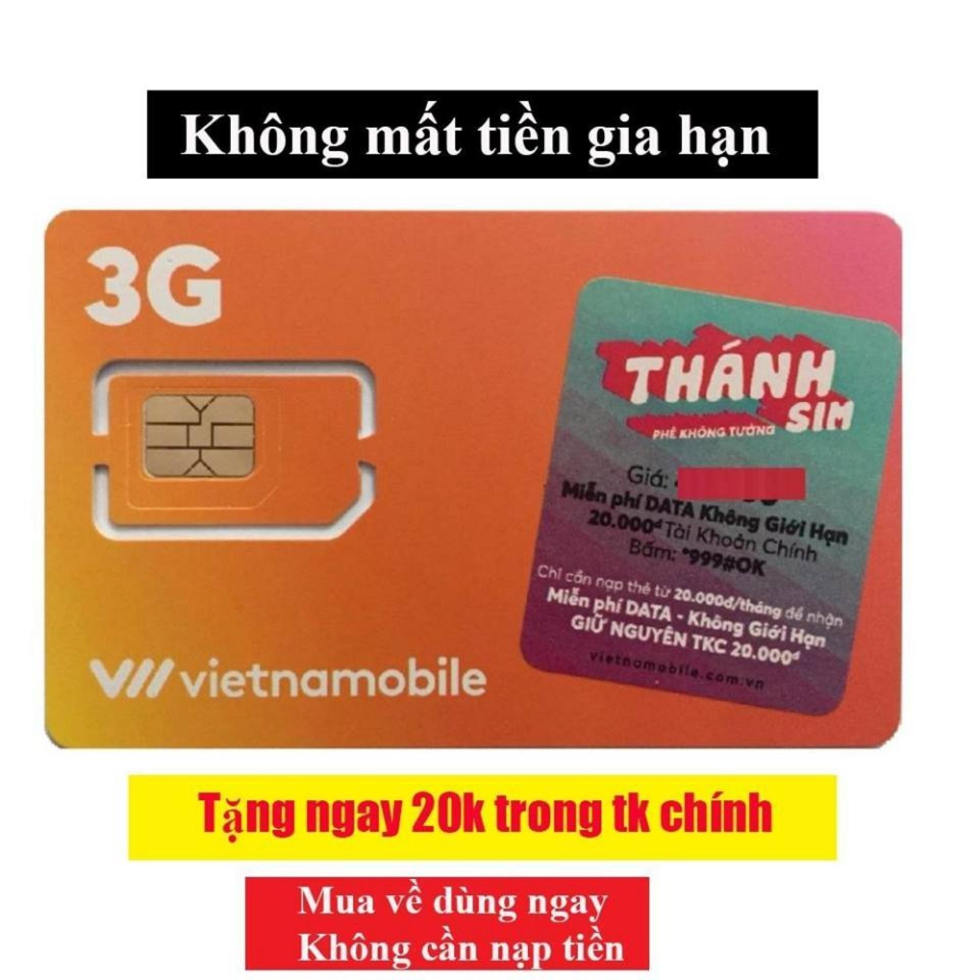 Thánh sim 3G Vietnamobile - MIỄN PHÍ SHIP - FREE 4Gb/ngày