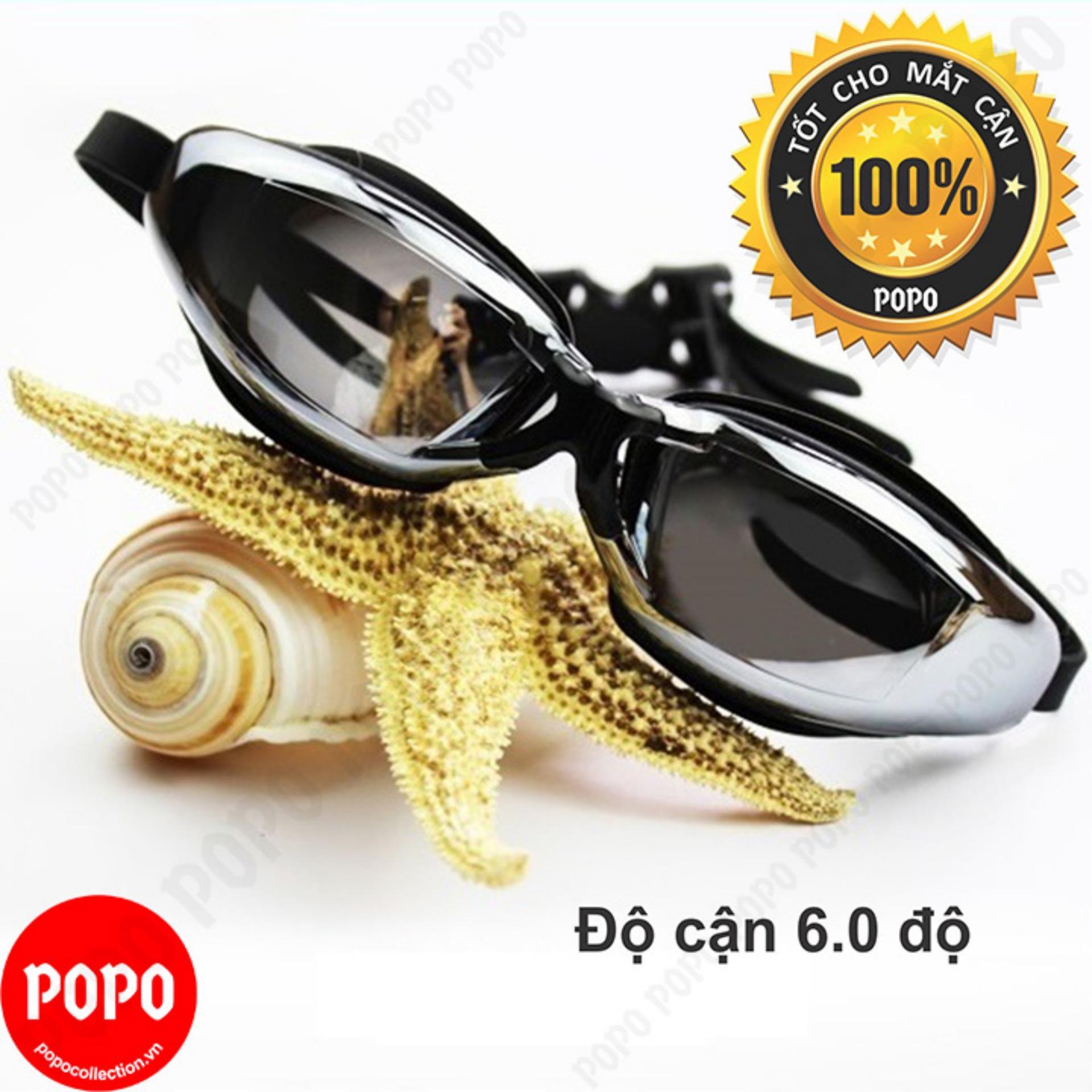 Hình ảnh Kính bơi CẬN 6.0 độ, tráng GƯƠNG, chống UV, chống HẤP HƠI, thời trang cao cấp + Quà Tặng 3M POPO Collection