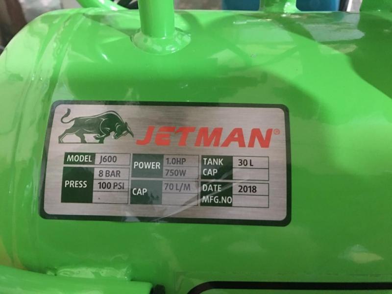 máy nén khí Jetman 30L không dầu 1HP