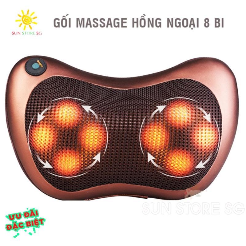 Goi Matxa Hong Ngoai Nhat Ban   Gối Massage Hồng Ngoại 8 Bi Dòng Cao Cấp - Đau Nhức Cơ Khớp Không Còn Là Nỗi Lo - Giảm Giá 50% Khi Mua Online Trên Lazada