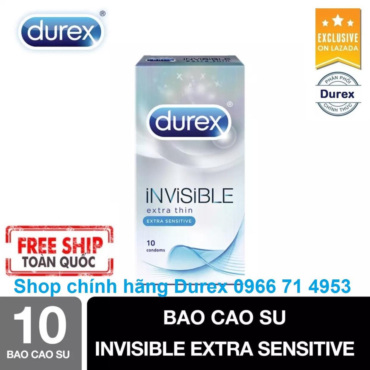Hình ảnh [Free Ship] – Bao Cao Su Durex Invisible Extra Thin cực siêu mỏng - [Được kiểm tra hàng trước khi nhận - Giao hàng che tên sản phẩm]