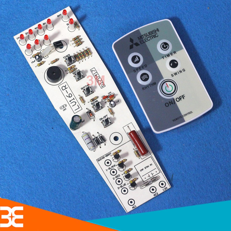 Hình ảnh Combo Bộ Điều Khiển Quạt Từ Xa và Mạch Quạt Cây Mitsubishi ( Tặng Kèm Pin )
