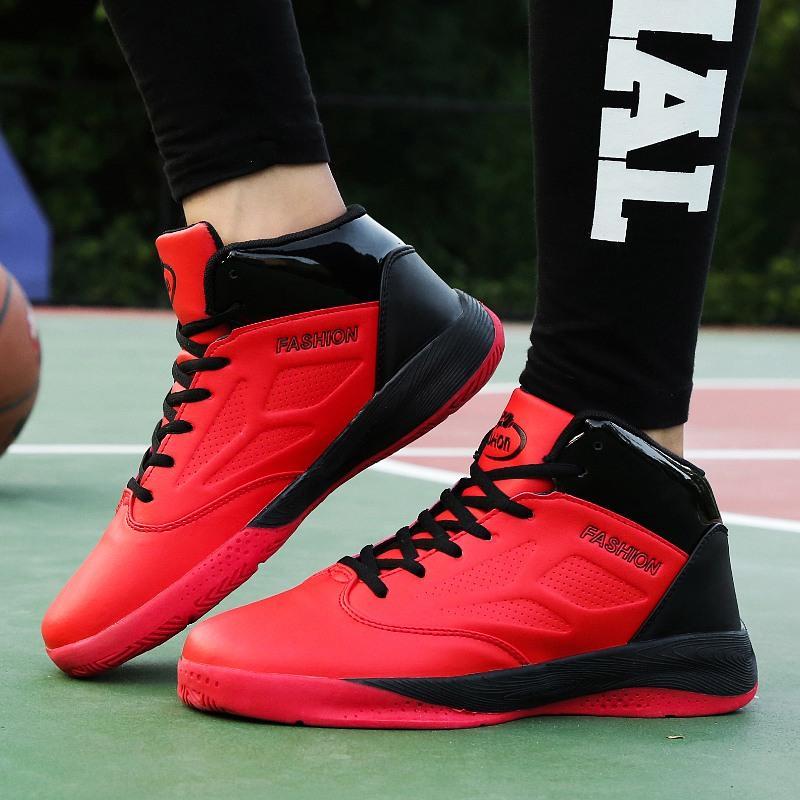 TOURSH Pria Basket Sepatu Sneakers Breathable Gaya Kasual (merah)-Intl . 069a0b443e