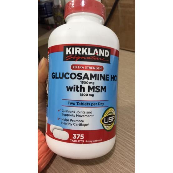 Hình ảnh Viên uống bổ khớp KIRKLAND Signature Glucosamin HCL & MSM 1500mg 375 viên