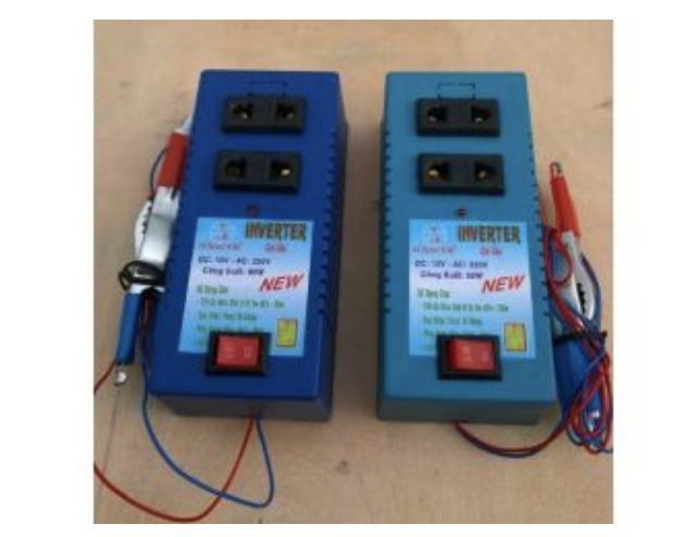 Hình ảnh thiết bị biến điện 12v ra 220v 60w