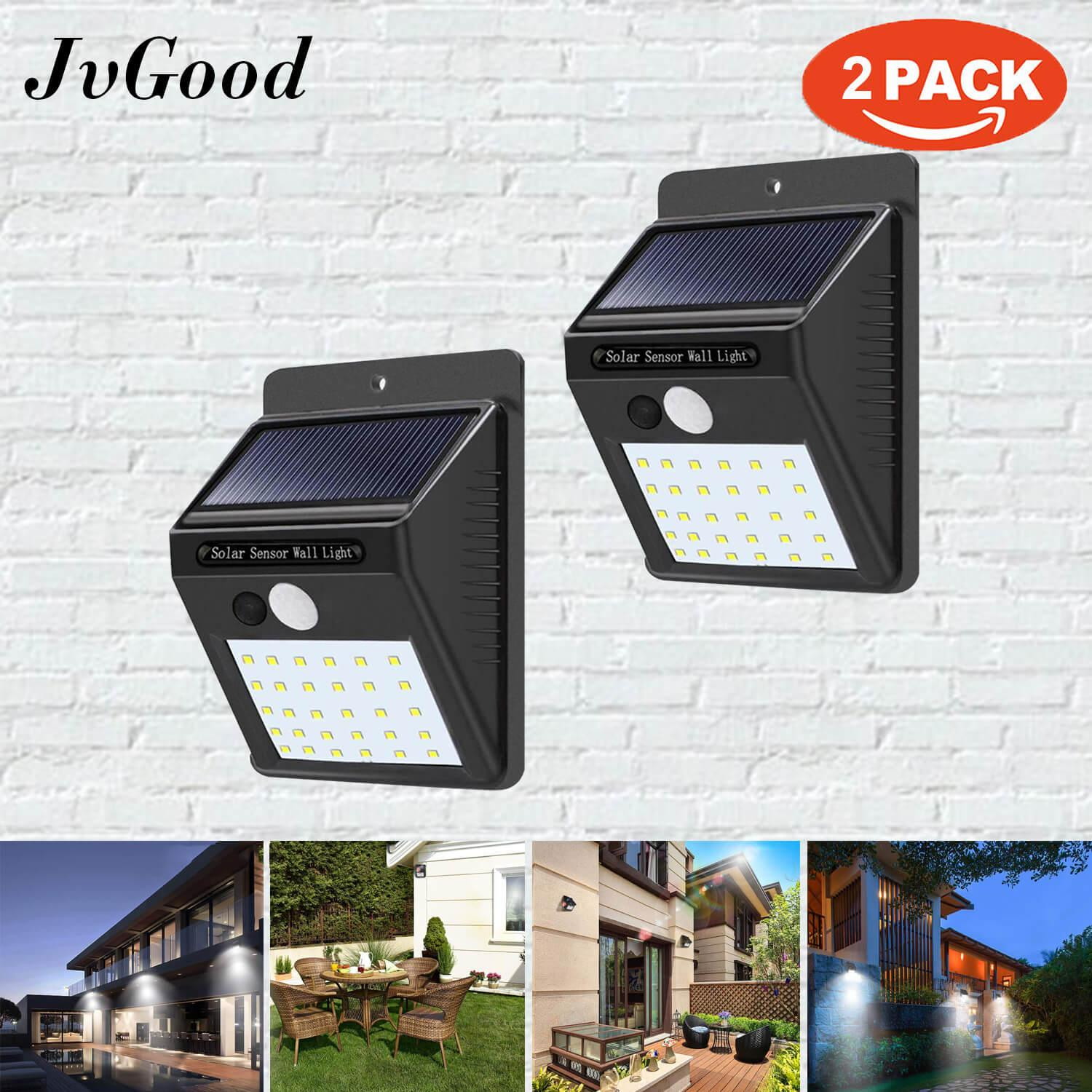 Home Outdoor Lighting Buy At Best Price In Wiring Security Lights Back Deck Jvgood Sensor Solar Wall Light Led Waterproof Powered Motion