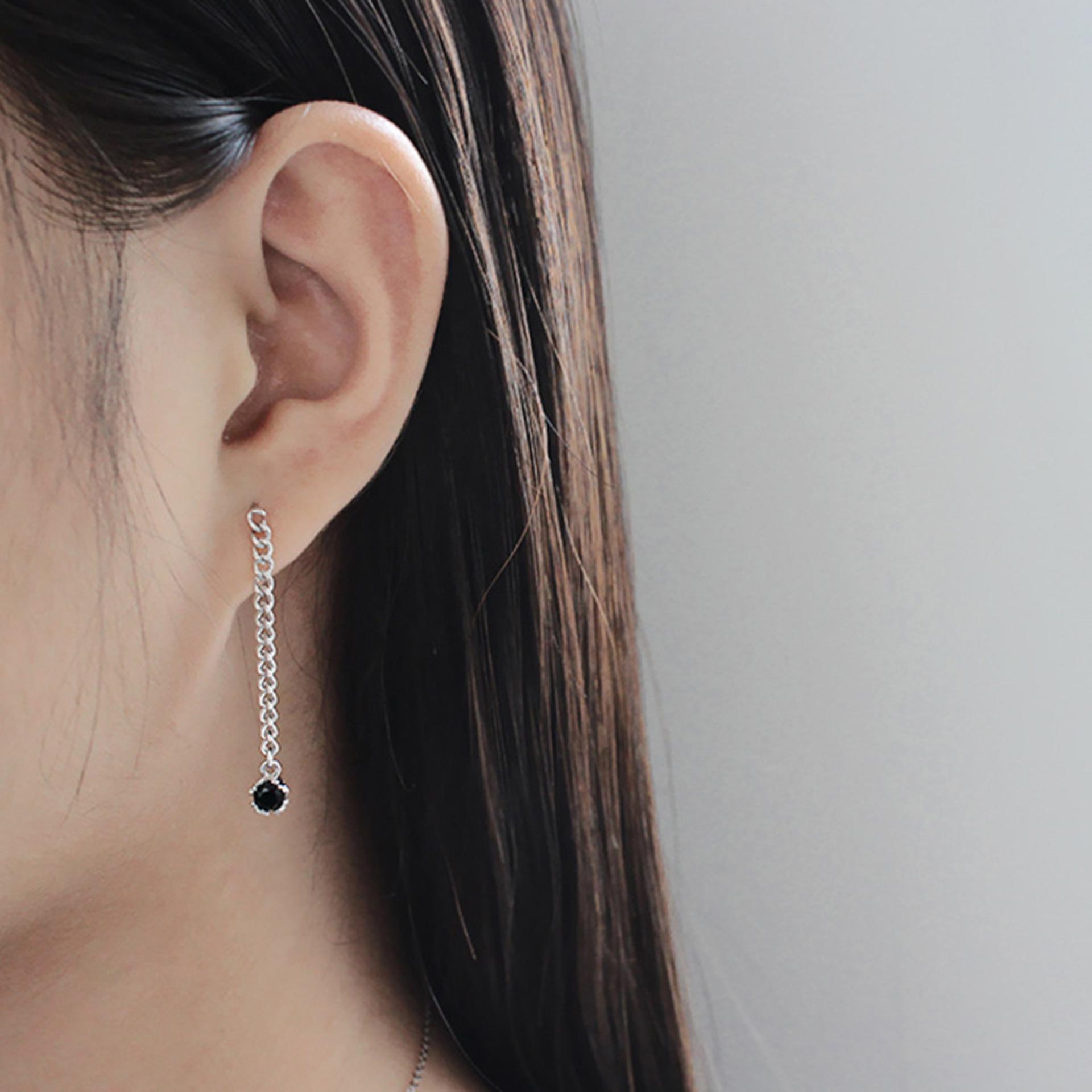 Bong Tai Nữ Jk Silver Korea Design Bạc Thật 925 Mạ Bạch Kim Kiểu Dang Trendy Trẻ Trung Jk Silver Chiết Khấu 40