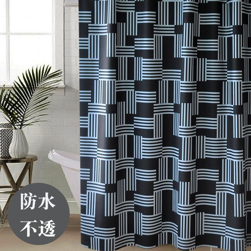 Bathroom Waterproof Partition Shower Curtain