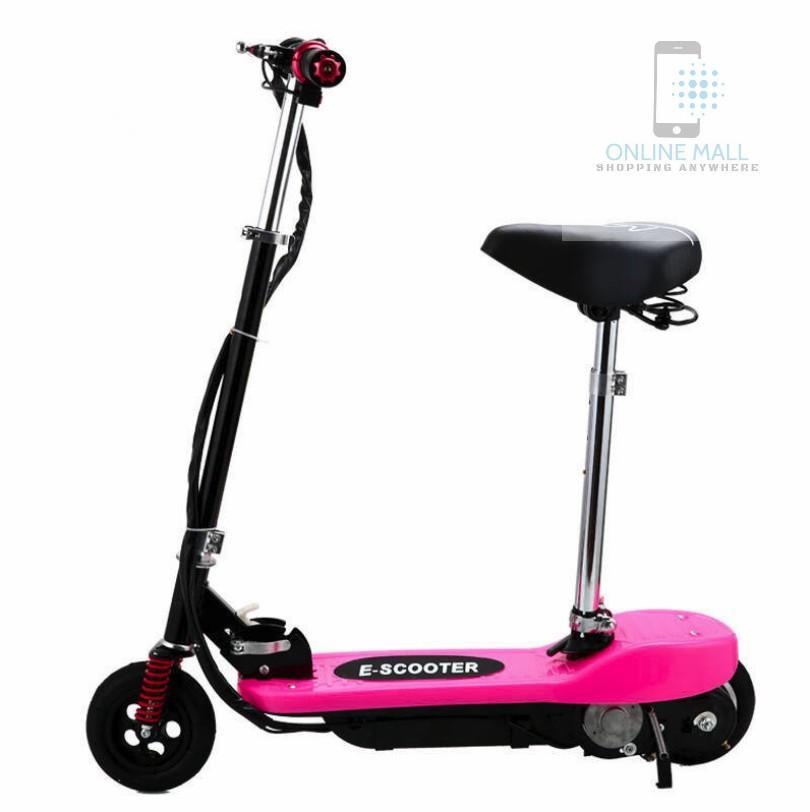Xe scooter điện tốc độ tối đa 15km/h, tải trọng 75kg (pink)