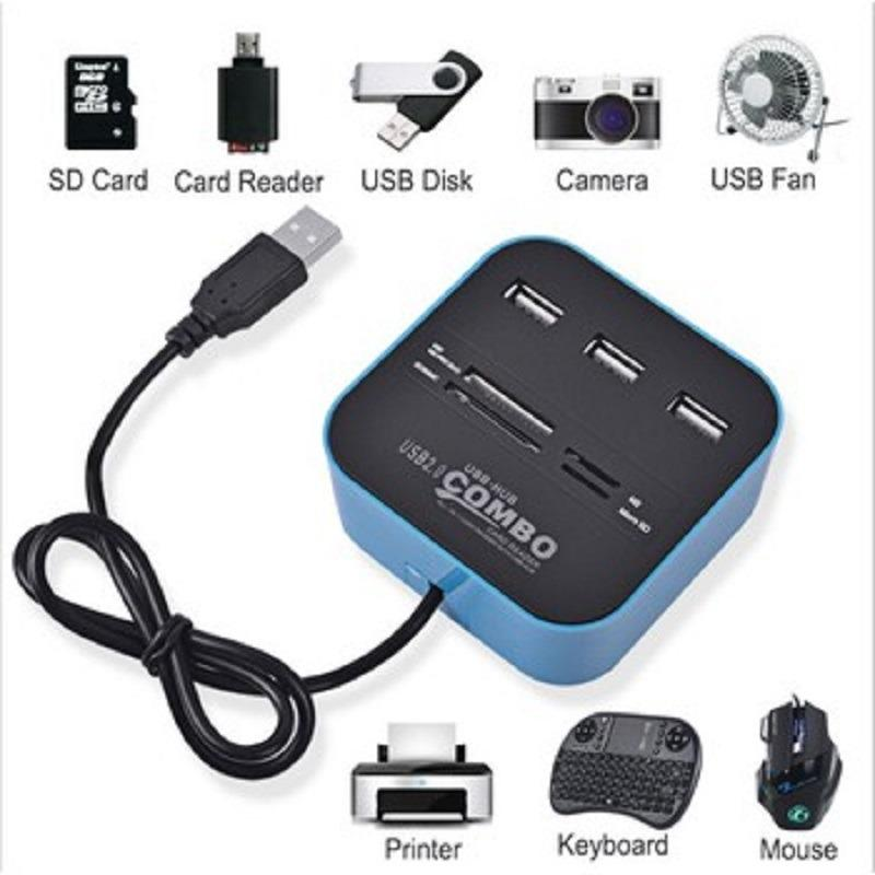 Hình ảnh Đầu đọc USB 2.0 + thẻ nhớ cho máy tính, pc laptop