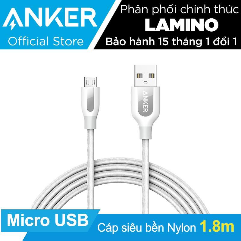 Bán Mua Cáp Sieu Bèn Nylon Anker Powerline Micro Usb Dai 1 8M Trắng Co Bao Da Hang Phan Phối Chinh Thức Hồ Chí Minh