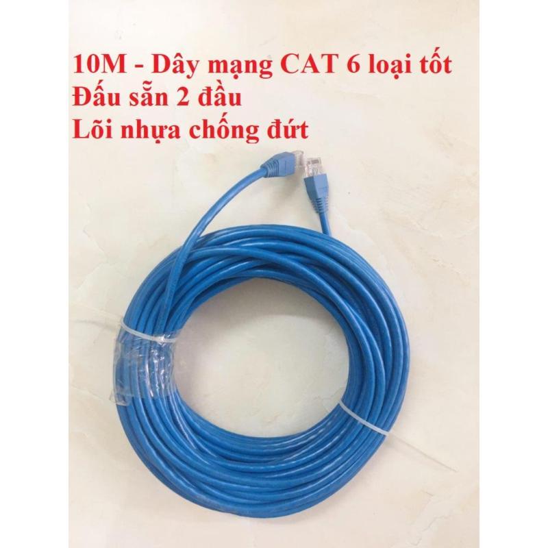 Bảng giá Dây cáp mạng internet/ mạng LAN 10m bấm sẵn 2 đầu (CAT 6 loại tốt) Phong Vũ