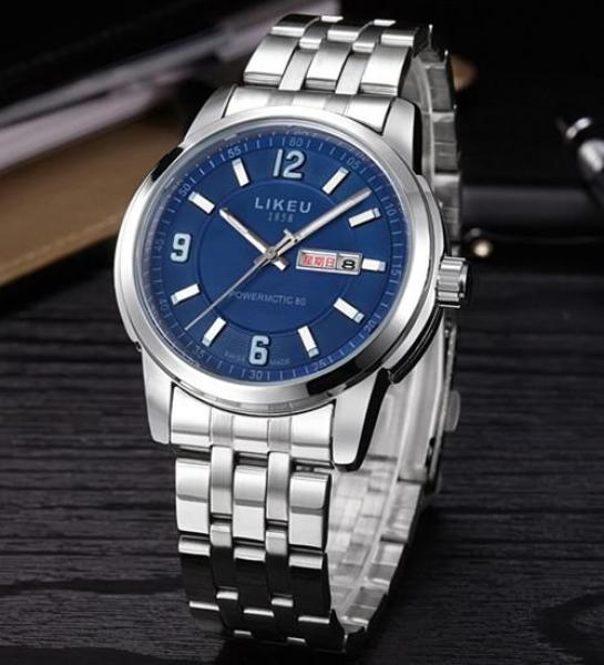 Is Brand MENS Watch Week Double Calendar Business MENS Watch Fashion STUDENTS Watch Steel Belt Quartz Watch Waterproof Belt Malaysia