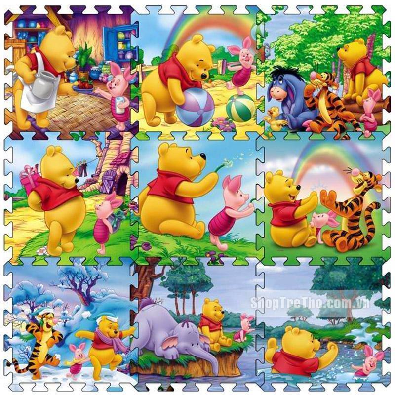 Thảm xốp ghép 2 mặt Âu Lạc (40x40) Nhiều hình cho bé 9 tấm