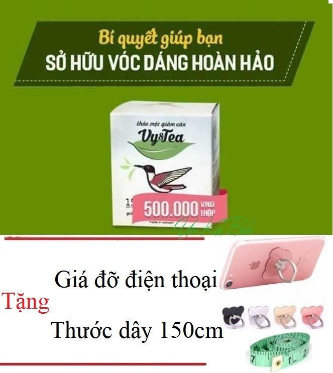 Bán Đa Kiểm Định Chinh Hang 100 Tra Thảo Mộc Giảm Can Vy Tea Tặng Gia Đỡ Điện Thoại Thước Day 150Cm Vy Tea