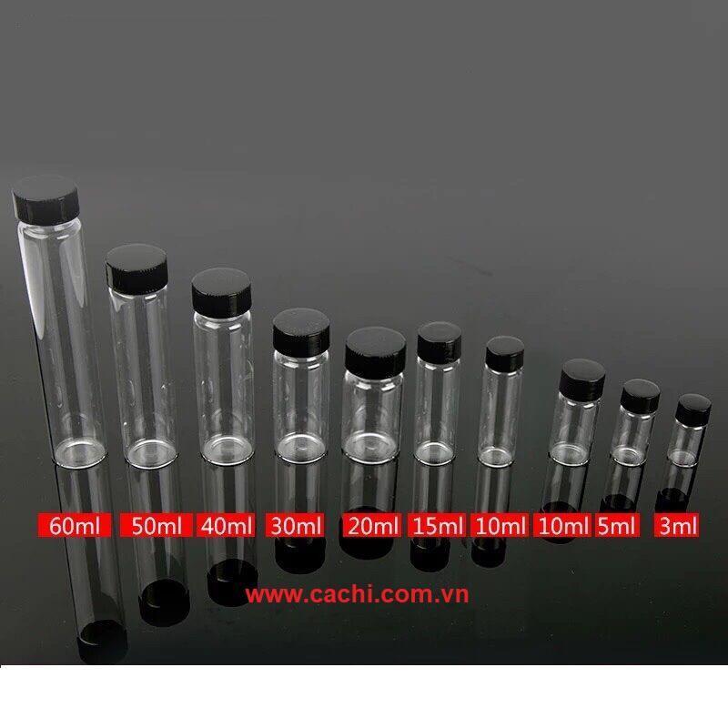 Chai thủy tinh 3ml - Bộ 10 cái