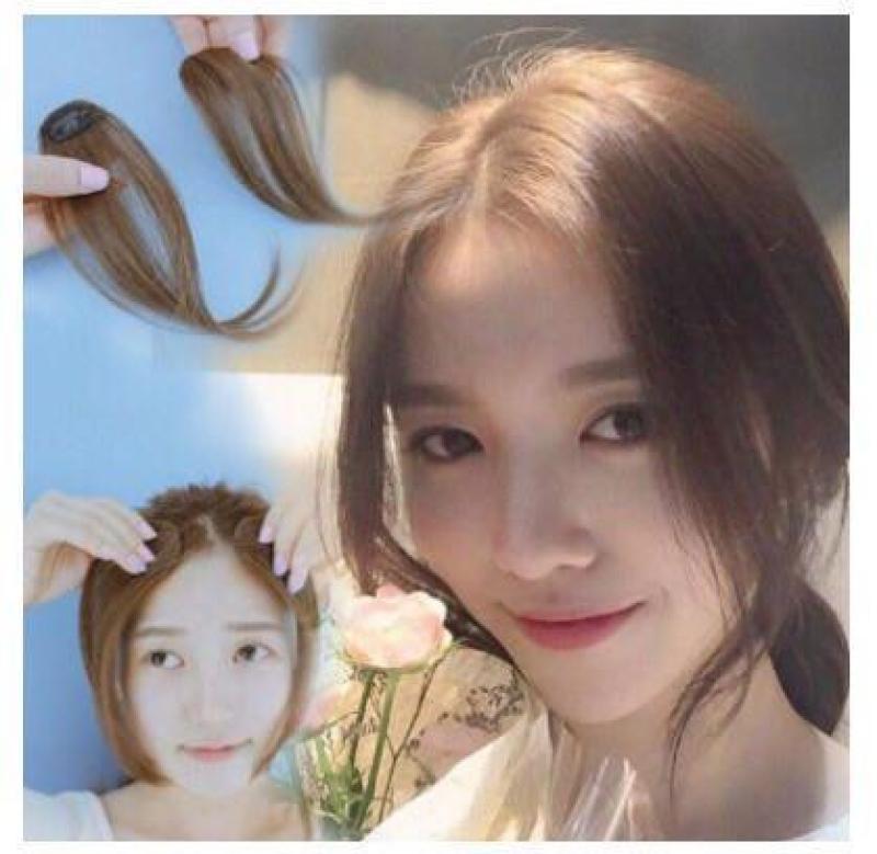 [Màu Đen ]TÓC MÁI MAI GIẢ 1 bên Basic Style Hàn Quốc nhập khẩu