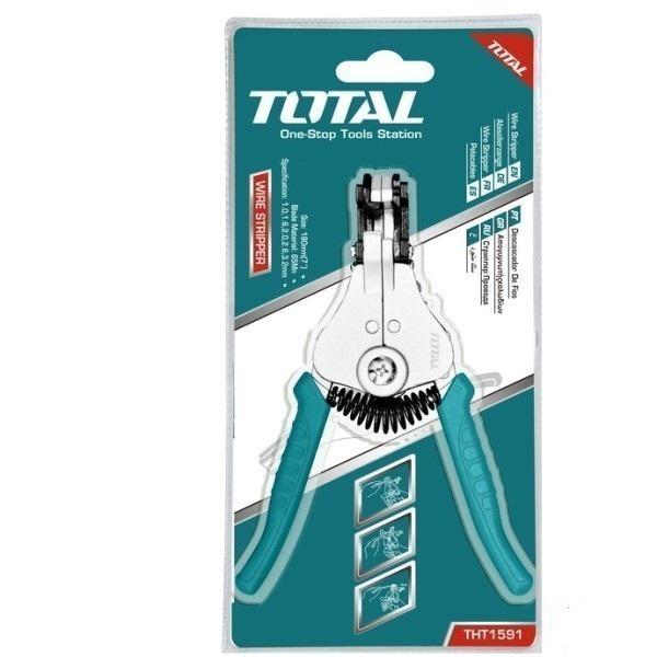 Kìm tuốt dây điện 7 inch Total THT1591